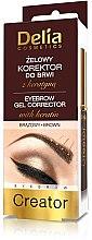 Profumi e cosmetici Correttore -gel per sopracciglia 4 in 1 - Delia Cosmetics Eyebrow Gel