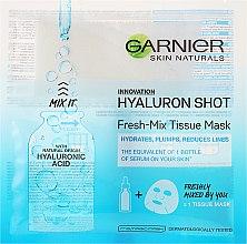 Profumi e cosmetici Maschera in tessuto con acido ialuronico - Garnier SkinActive Fresh-Mix Sheet Mask With Hyaluronic Acid