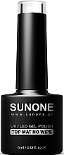 Profumi e cosmetici Top opaco per smalto gel senza strato appiccicoso - Sunone UV/LED Gel Polish Top Mat No Wipe