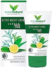 """Profumi e cosmetici Crema viso da notte """"Detox"""" - Cosnature Night Cream Detox Green Tea"""