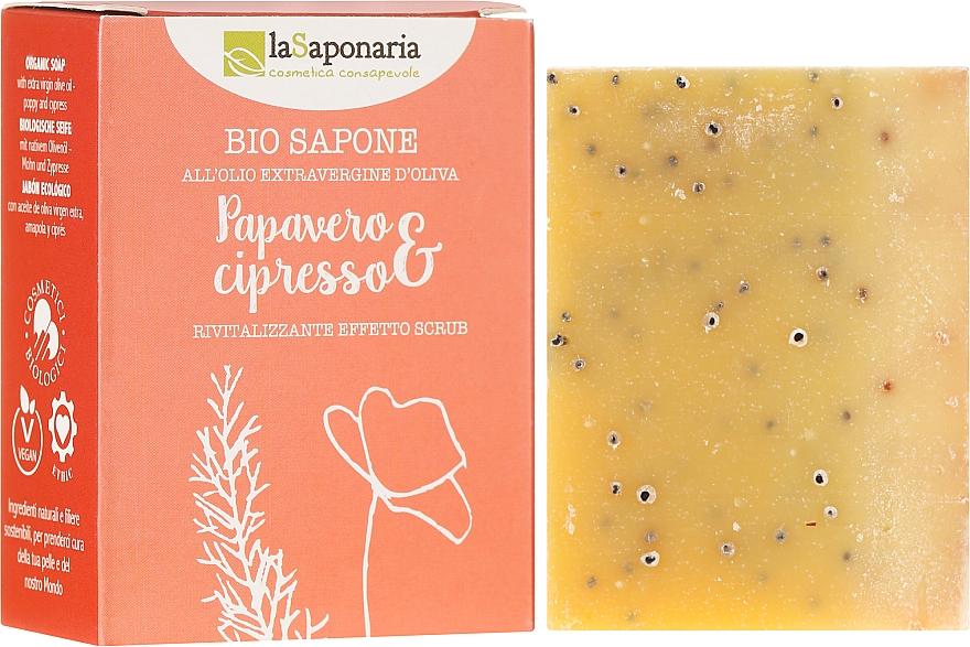 """Sapone bio """"Papavero e cipresso"""" - La Saponaria Bio Sapone"""