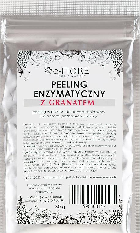 Peeling enzimatico con estratto di melograno - E-Fiore Professional Enzyme Peeling Garnet&Vitamin C — foto N1