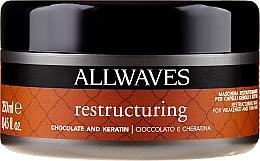 """Profumi e cosmetici Maschera per capelli """"Cioccolato e cheratina"""" - Allwaves Chocolate And Ceratine Restructuring Mask"""