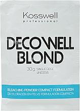 Polvere schiarente, blu - Kosswell Professional Decowell Blond — foto N1