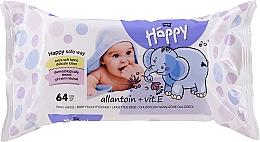 Profumi e cosmetici Salviette con vitamina E, 64 pezzi - Bella Baby Happy Vit E & Allantoin