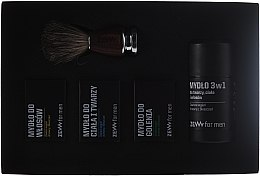Profumi e cosmetici Set - Zew Barber's Holiday Set (soap/3x85ml + brush)