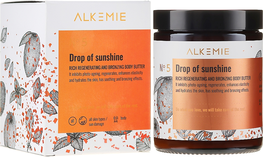 Olio corpo rigenerante e abbronzante - Alkemie Drop Of Sunshine Regenerating & Bronzing Body Butter