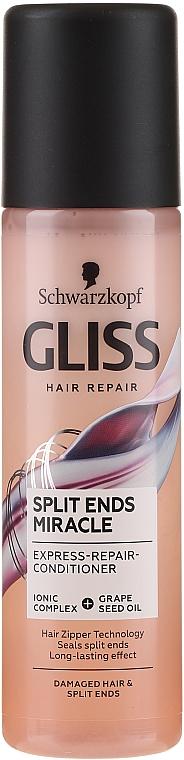 Balsamo per capelli danneggiati e con doppie punte - Schwarzkopf Gliss Split Ends Miracle Express-Repair Conditioner