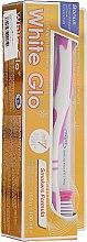 Profumi e cosmetici Set dentifricio sbiancante + spazzolino viola - White Glo Smokers Formula Whitening Toothpaste (toothpaste/100ml + toothbrush)