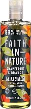"""Profumi e cosmetici Shampoo per capelli normali e grassi """"Pompelmo e Arancia"""" - Faith In Nature Grapefruit & Orange Shampoo"""