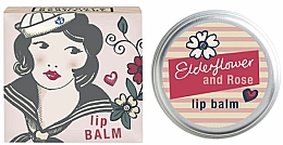 Profumi e cosmetici Balsamo labbra al sambuco e rosa - Bath House Barefoot & Beautiful Elderflower & Rose Lip Balm