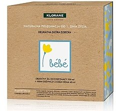 Profumi e cosmetici Set - Klorane Bebe (wash gel/200ml + cr/40ml)