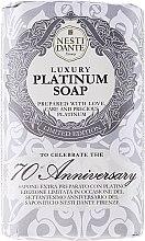 """Profumi e cosmetici Sapone """"Platino"""" - Nesti Dante Luxury Platinum Soap 70th Anniversary"""