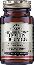 "Profumi e cosmetici Integratore alimentare ""Biotin"" 1000mcg - Solgar Enhanced Potency Biotin"