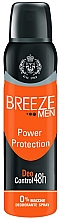 Profumi e cosmetici Deodorante-spray - Breeze Men Power Protection Deo Control 48H