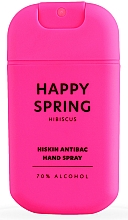 "Profumi e cosmetici Spray disinfettante mani ""Hibiscus"" - HiSkin Antibac Hand Spray Happy Spring"