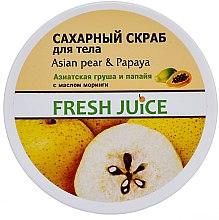 """Profumi e cosmetici Scrub corpo allo zucchero """"Pera e papaia asiatiche"""" - Fresh Juice Asian Pear & Papaya"""