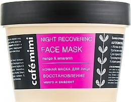 Profumi e cosmetici Maschera viso rigenerante da notte - Cafe Mimi Night Recovering Face Mask