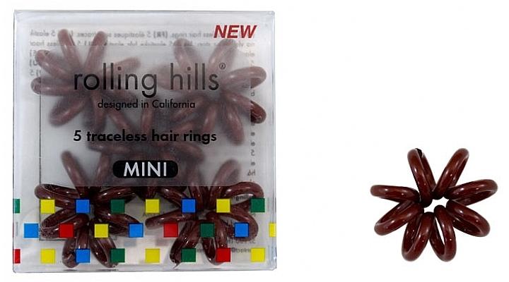 Elastico per capelli, mini, marrone - Rolling Hills 5 Traceless Hair Rings Mini Brown — foto N1