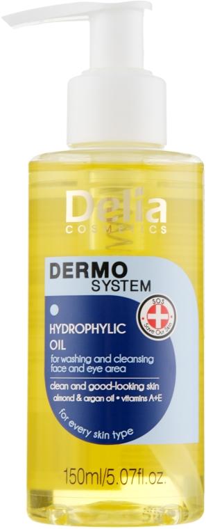 Olio-detergente viso e occhi idrofilo - Dermo System Delia