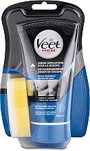 Profumi e cosmetici Crema depilatoria maschile sotto la doccia per pelli sensibili - Veet Men Silk & Fresh Hair Removal Cream
