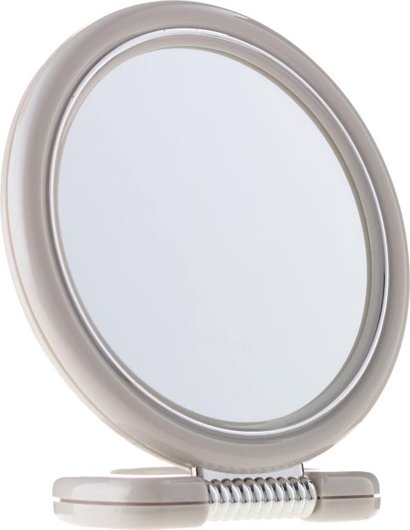 Specchio bilaterale rotondo su supporto, 12 cm, 9504, grigio - Donegal Mirror