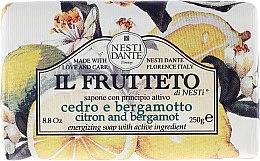"""Profumi e cosmetici Sapone con principio attivo """"Cedro e bergamotto """" - Nesti Dante Il Frutteto Soap"""