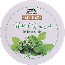 Profumi e cosmetici Maschera per capelli danneggiati - Eco U Hair Mask Herbal Vinegar For Damaged Hair