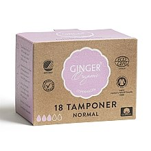 "Profumi e cosmetici Assorbenti interni senza applicatore ""Normal"", 18 pz - Ginger Organic"