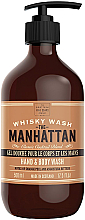 Profumi e cosmetici Gel detergente per mani e corpo - Scottish Fine Soaps Hand & Body Wash Manhattan Whisky