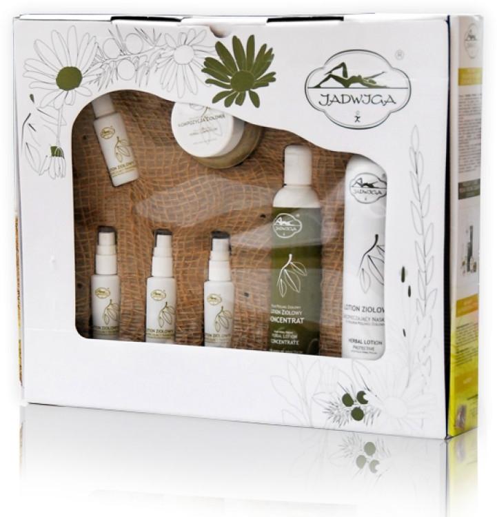 Set - Jadwiga Herbal Peeling (peel/100ml+lot200ml+lot500ml+lot30ml) — foto N1