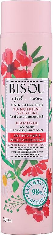 """Shampoo per capelli secchi """"Nutrimento e Ripristino 3D"""" - Bisou Hair Shampoo 3D-Nutrien & Restore"""