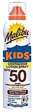 Profumi e cosmetici Crema solare impermeabile per bambini - Malibu Sun Kids Continuous Lotion Spray SPF50