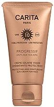 Profumi e cosmetici Crema solare protettiva per viso SPF 10 - Carita Progressif Anti-Age Solaire Protecting And Moisturising Sun Cream For Face
