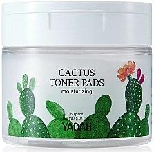 Profumi e cosmetici Salviette idratanti viso con estratto di cactus - Yadah Cactus Moisturizing Toner Pads