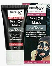 Profumi e cosmetici Maschera esfoliante al carbone - Derma V10 Deep Cleansing Peel Off Charcoal Mask