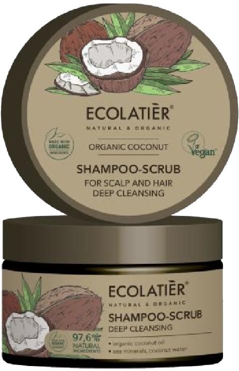 "Shampoo-scrub capelli ""Pulizia profonda"" - Ecolatier Organic Coconut Shampoo-Scrub"