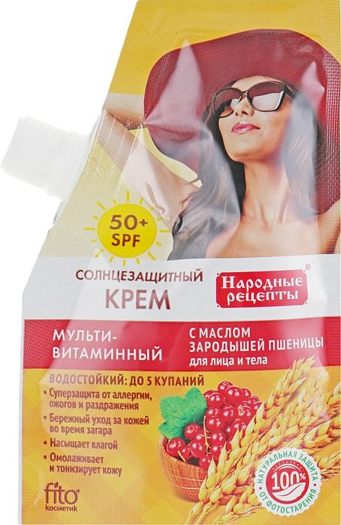 Crema multivitaminica con olio di germe di grano SPF 50 - Fito cosmetic ricette popolari