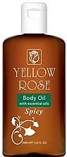 Profumi e cosmetici Olio corpo emolliente - Yellow Rose Body Oil With Essential Oils Spicy