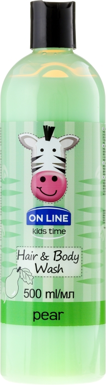"Gel doccia-shampoo ""Pera"" - On Line Kids Time Hair & Body Wash Pear"