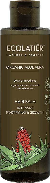 """Balsamo per capelli """"Rafforzamento e crescita intensiva"""" - Ecolatier Organic Aloe Vera Hair Balm"""