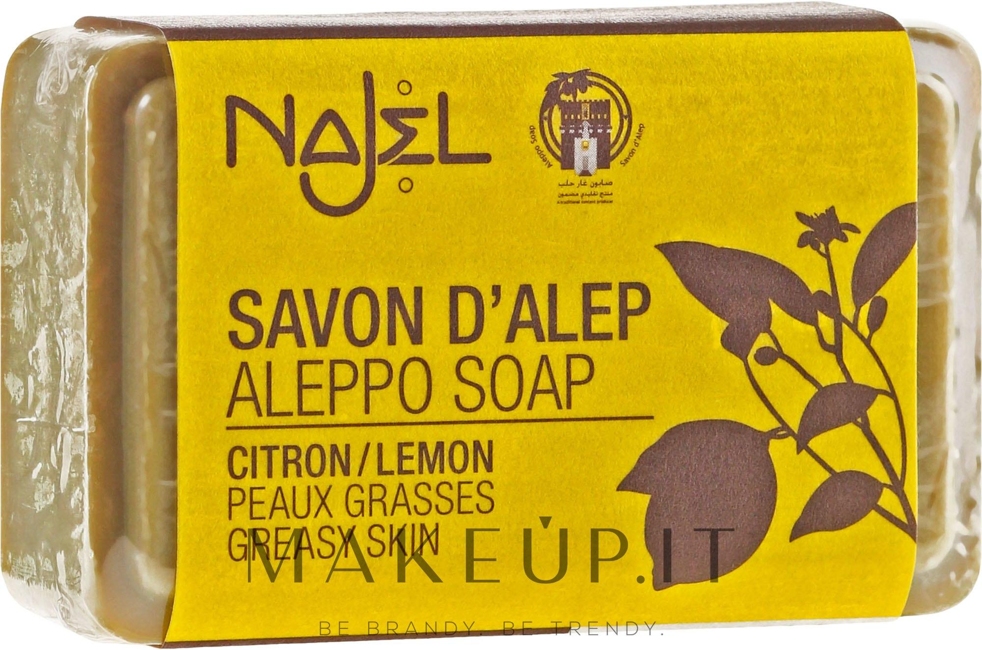 """Sapone di Aleppo """"Limone"""" - Najel Aleppo Soap Invigorating Soap With Lemon — foto 100 g"""