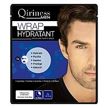 Profumi e cosmetici Maschera idratante e detergente per uomo - Qiriness Wrap Hydratant Moisture Purity Mask