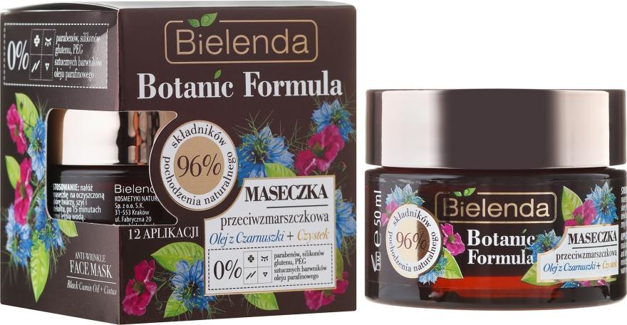 Maschera viso - Bielenda Botanic Formula Black Seed Oil + Cistus Anti-Wrinkle Face Mask
