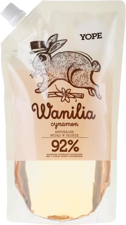 """Sapone liquido """"Vaniglia e Cannella"""" (doypack) - Yope Vanilla & Cinnamon Natural Liquid Soap Refill Pack"""