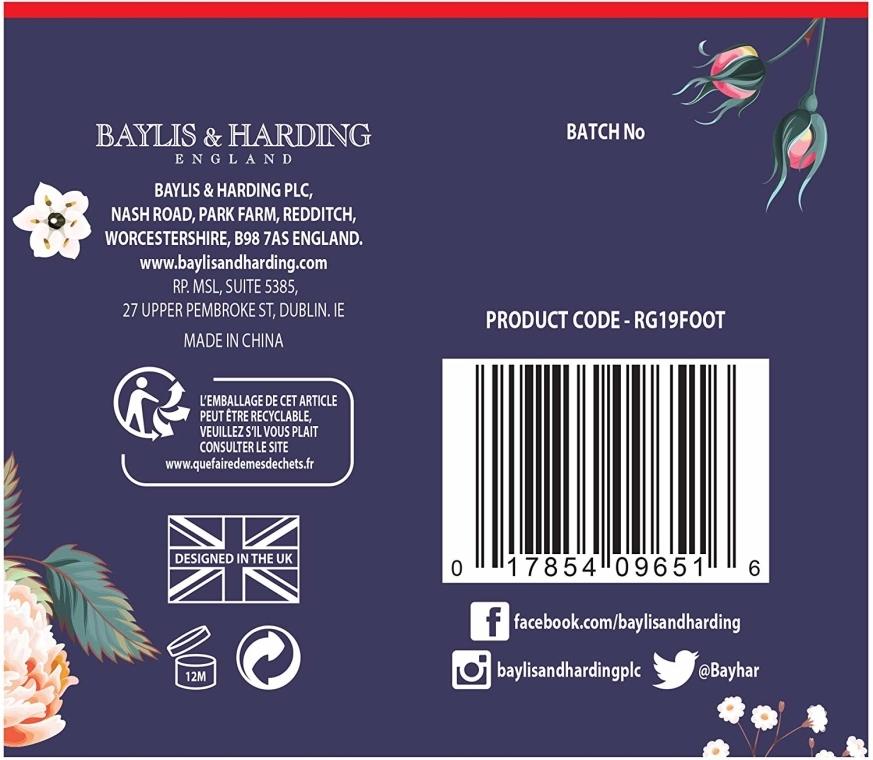 Set - Baylis & Harding Royale Garden Foot Care Set (f/lot/125ml + socks) — foto N4