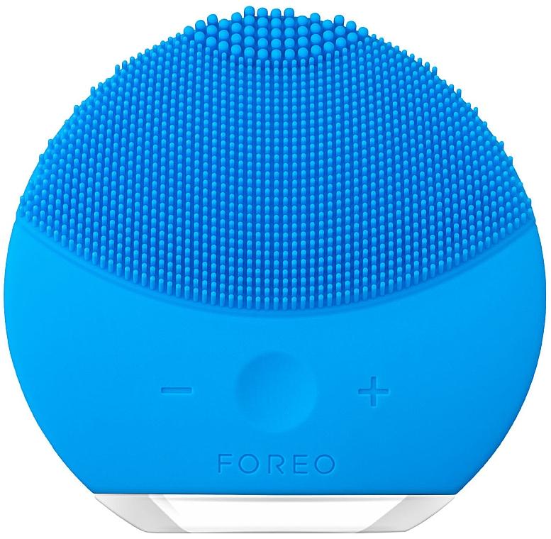 Spazzola per pulizia e massaggio termale con funzione di controllo dell'intensità - Foreo Luna Mini 2 Aquamarine