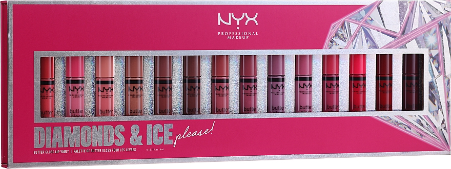 Set - NYX Professional Makeup Diamonds & Ise (lip gloss/14x8ml)