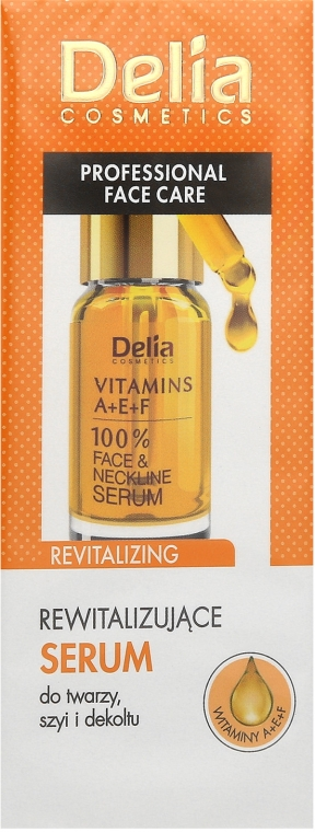 Siero rivitalizzante intensivo anti-età per viso e collo - Delia Face Care Anti-Wrinkle and Revitalizing Face Neckline Intensive Serum