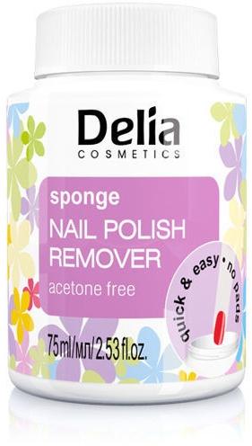 Solvente con spugna per lo smalto - Delia Sponge Nail Polish Remover Acetone Free
